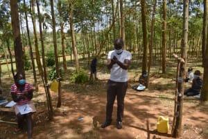 The Water Project: Indulusia Community, Osanya Spring -  Handwashing Demonstration