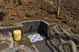 The Water Project: Indulusia Community, Osanya Spring -  Water Flowing