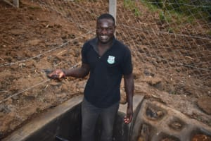 The Water Project: Indulusia Community, Osanya Spring -  Wycliffe Osanya Overjoyed Upon Springs Completion