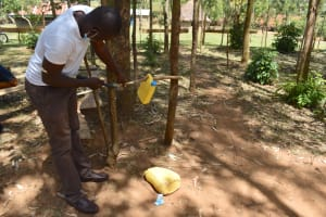 The Water Project: Indulusia Community, Osanya Spring -  How To Build A Tippy Tap