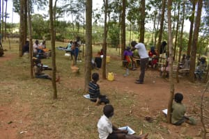 The Water Project: Indulusia Community, Osanya Spring -  Using The Elbow For Safer Coughs And Sneezes