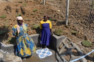 The Water Project: Indulusia Community, Osanya Spring -  Women Posing At The Spring