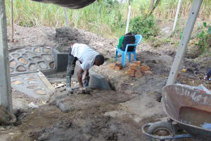 The Water Project: Makhwabuyu Community, Sayia Spring -  Plastering The Stairs