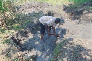 The Water Project: Makhwabuyu Community, Sayia Spring -  Excavation