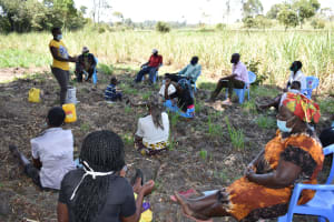 The Water Project: Makhwabuyu Community, Sayia Spring -  Training Ongoing