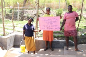 The Water Project: Makhwabuyu Community, Sayia Spring -  Thank You