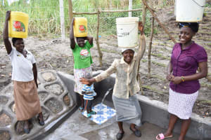 The Water Project: Makhwabuyu Community, Sayia Spring -  Women At The Spring