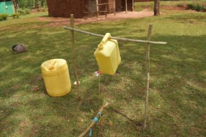The Water Project: Mukhonje B Community, Peter Yakhama Spring -  Tippy Tap