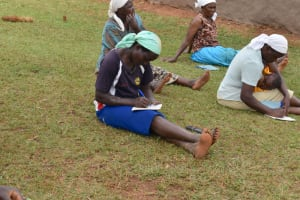 The Water Project: Mukhonje B Community, Peter Yakhama Spring -  Women Taking Notes During The Training