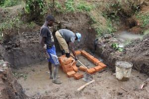 The Water Project: Shianda Community, Panyako Spring -  Brick Setting