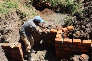 The Water Project: Shianda Community, Panyako Spring -  Headwall Construction