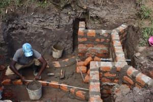 The Water Project: Shianda Community, Panyako Spring -  Brick Work