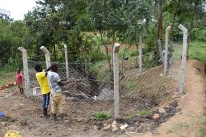 The Water Project: Shianda Community, Panyako Spring -  Fencing