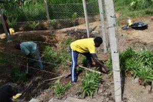 The Water Project: Shianda Community, Panyako Spring -  Grass Planting