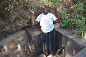 The Water Project: Shianda Community, Panyako Spring -  Mama Rose Posing At Water Source