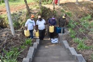 The Water Project: Shianda Community, Panyako Spring -  Men Posing At The Spring
