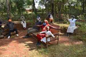 The Water Project: Shianda Community, Panyako Spring -  Physical Distancing Check