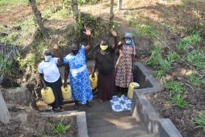 The Water Project: Shianda Community, Panyako Spring -  Women Pose At The Spring