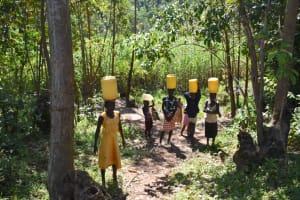The Water Project: Shivagala Commmunity, Wekoye Spring -  Carrying Water