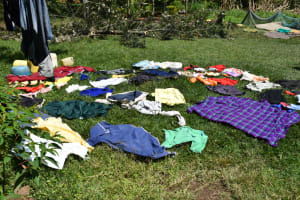 The Water Project: Shivagala Commmunity, Wekoye Spring -  Clothes Drying