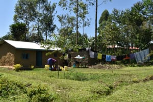 The Water Project: Shivagala Commmunity, Wekoye Spring -  Clothes Hung To Dry