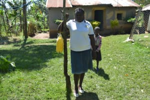The Water Project: Shivagala Commmunity, Wekoye Spring -  Handwashing Station In Center Of Homestead