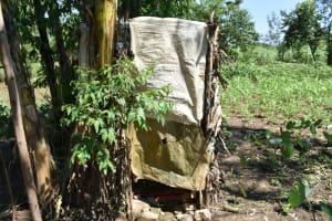 The Water Project: Shivagala Commmunity, Wekoye Spring -  Bathing Shelter