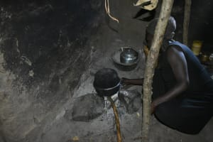 The Water Project: Shivagala Commmunity, Wekoye Spring -  Cooking Inside The Kitchen
