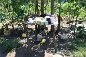 The Water Project: Shivagala Commmunity, Wekoye Spring -  Dishrack