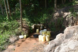 The Water Project: Shivagala Commmunity, Wekoye Spring -  Situtation At The Unprotected Spring