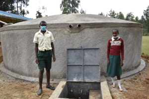 The Water Project: Wavoka Primary School -  Posing At The Complete Tank