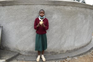 The Water Project: Wavoka Primary School -  Real With A Cup Of Water At The Rain Tank