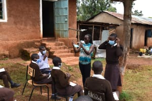 The Water Project: Kitagwa Secondary School -  Mask Wearing Demonstration