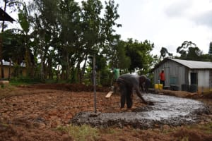 The Water Project: Friends Musiri Secondary School -  Pouring The Concrete Foundation