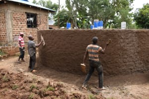 The Water Project: Friends Musiri Secondary School -  Exterior Plastering