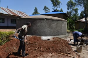 The Water Project: Friends Musiri Secondary School -  Site Clearance Around Tank For Easy Access
