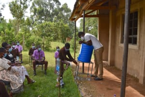 The Water Project: Friends Musiri Secondary School -  Handwashing Using A New Station