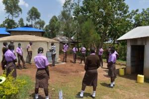 The Water Project: Friends Musiri Secondary School -  Training On Tank Maintenance
