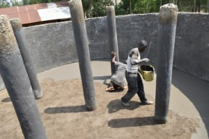 The Water Project: Mwikhupo Primary School -  Floor Plaster