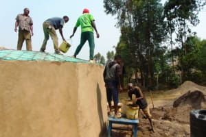 The Water Project: Mwikhupo Primary School -  Dome Setting