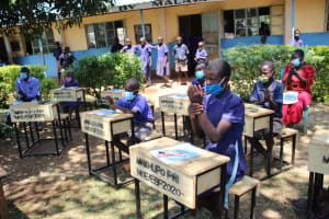The Water Project: Mwikhupo Primary School -  Handwashing Demonstrations
