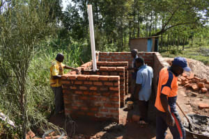 The Water Project: Mwikhupo Primary School -  Latrine Construction