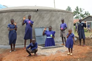 The Water Project: Mwikhupo Primary School -  Posing At The Water Tank