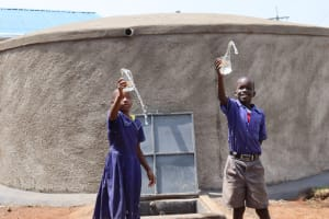 The Water Project: Mwikhupo Primary School -  Water Celebrations At The Rain Tank