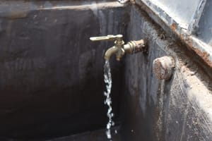 The Water Project: Mwikhupo Primary School -  Clean Water Flowing