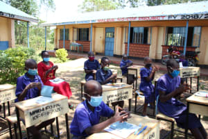 The Water Project: Mwikhupo Primary School -  Following Handwashing Steps