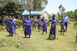 The Water Project: Mwikhupo Primary School -  Physical Distancing Check