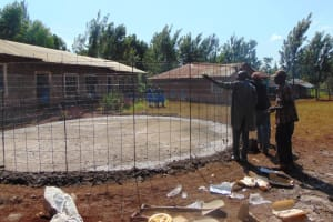 The Water Project: Kitagwa Primary School -  Wire Reinforcement For Tank Wall