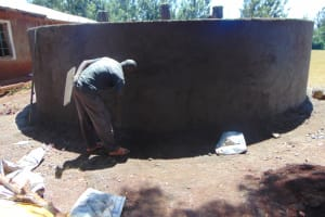 The Water Project: Kitagwa Primary School -  Exterior Plaster Work