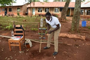 The Water Project: Kitagwa Primary School -  Demonstration On Making A Simple Kitchen Garden With Drip Irrigation